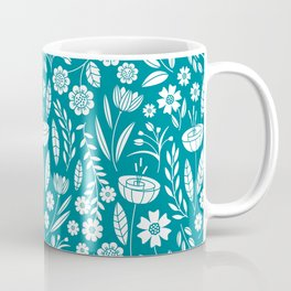 Blooming Field - teal Coffee Mug