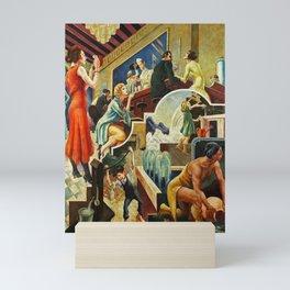 Classical Masterpiece 'The History of Water' by Thomas Hart Benton Mini Art Print