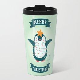 Christmas tree Penguin Travel Mug