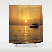 jamaica Shower Curtains featuring Sunset in Jamaica  by Jason Carnegie