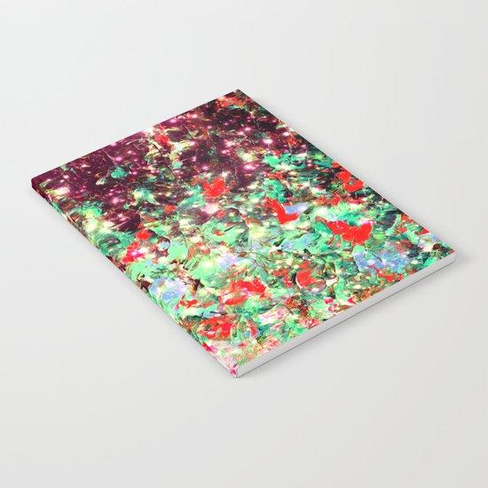 MISTLETOE NEBULA Colorful Festive Christmas Red Green Sparkle Galaxy Ombre Xmas Holidaze Abstract  Notebook