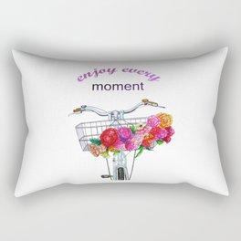 Enjoy every moment . art Rectangular Pillow