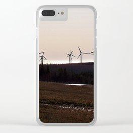 Windmill Ridge Clear iPhone Case
