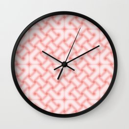 Pink Celtic Knot Pattern Wall Clock