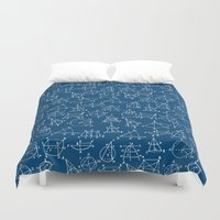 school Duvet Covers featuring School chemical #8 by Juliana RW