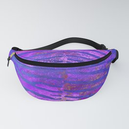 Zebra Stripes | Twilight Blue & Violet Purple | Watercolor Animal Print Art Fanny Pack