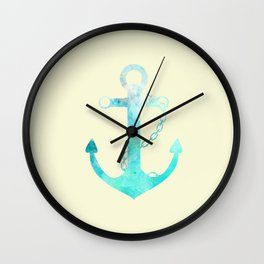 AFE Watercolor Ship Anchor Wall Clock