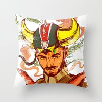 transformer Throw Pillows featuring I am a Transformer by Nicolae Negura
