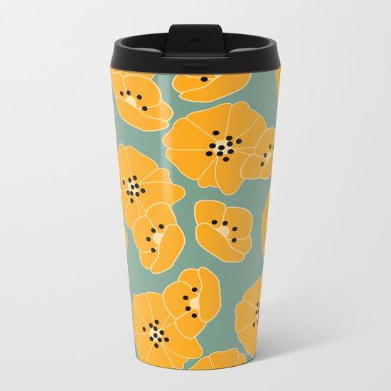 Retro bloom 003 Metal Travel Mug