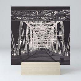 Nashville, TN Bridge Mini Art Print