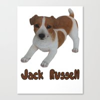jack russell Canvas Prints featuring Jack Russell!  by Al's Visions