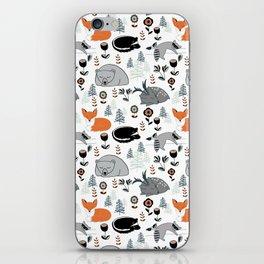 Woodland Nap Time iPhone Skin