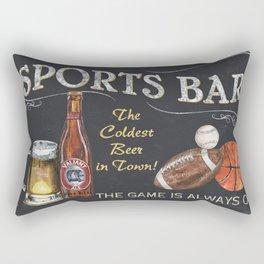 Sports Bar Sign Rectangular Pillow