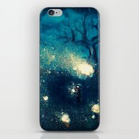 fireflies iPhone & iPod Skins featuring Fireflies by Morgan Ofsharick - meoillustration