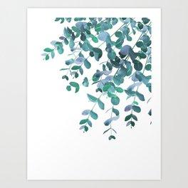 Eucalyptus Teal Blue Green Delight #1 #foliage #decor #art #society6 Art Print