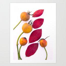 stylized rose I Art Print