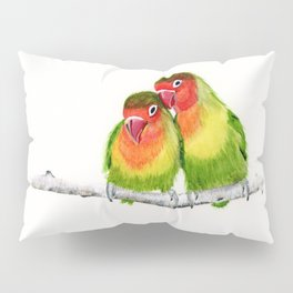 Love Birds - birds, nature, wildlife Pillow Sham