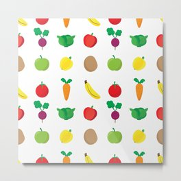 A Cute Concoction of Fruit and Vegetable. Vegan Heaven! Metal Print