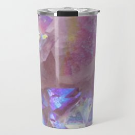 Pink Aura Crystals Travel Mug