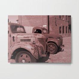 Vintage Cars Metal Print