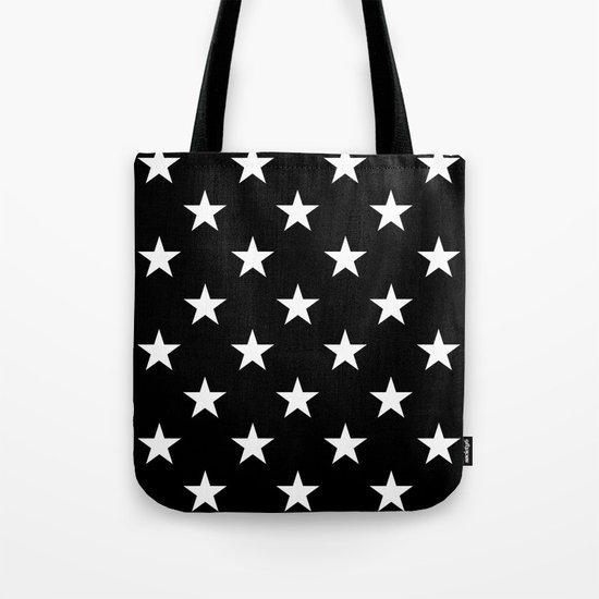 Stars (White/Black) Tote Bag