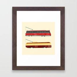 Streetcars Framed Art Print