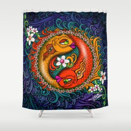 Yin Yang Koi Shower Curtain