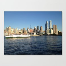 Manhattan, New York City, View from Hudson River Canvas Print