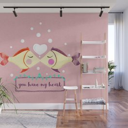 VALENTINE'S FISH IN LOVE Wall Mural