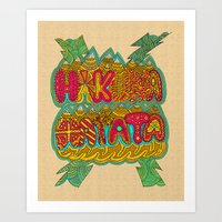 hakuna Art Prints featuring Hakuna Color by Diego Tirigall
