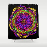 funky Shower Curtains featuring Funky polygons by haroulita