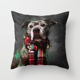 A5 - The Stylish Dog, Abstract Art. Throw Pillow