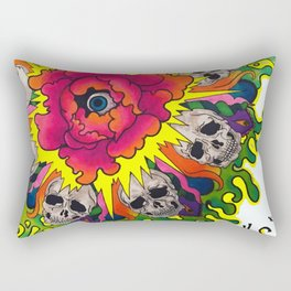 Deadly Mandala. Rectangular Pillow
