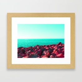 HueSaturationSea Framed Art Print