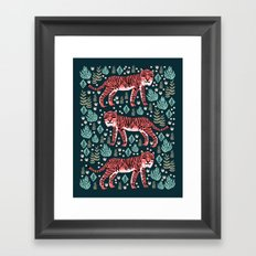 Safari Tiger by Andrea Lauren  Framed Art Print