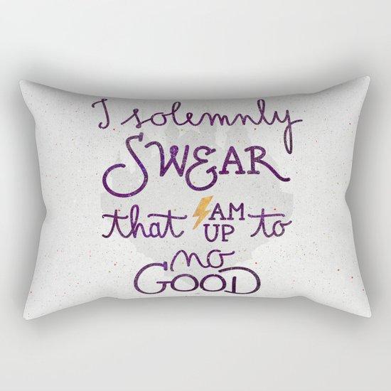 I am up to no good Rectangular Pillow