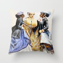 Night On The Town - Edouard Marquis, 1867 Throw Pillow
