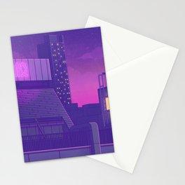 Shinjuku Night Lights Stationery Cards
