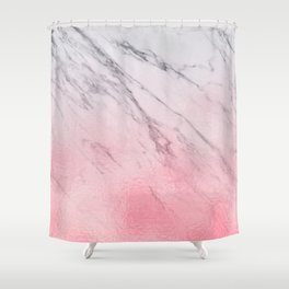 Cotton candy marble Shower Curtain