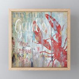 New Orleans Gumbo Sign Framed Mini Art Print