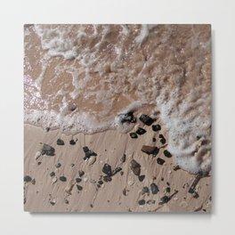 Sand, Rocks, Waves Metal Print
