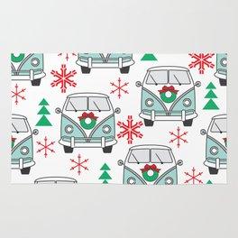 vintage christmas mini vans Rug