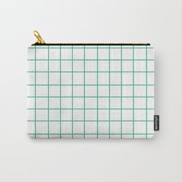 Grid (Mint/White) Carry-All Pouch