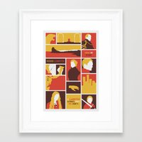lannister Framed Art Prints featuring House Lannister by Jack Howse
