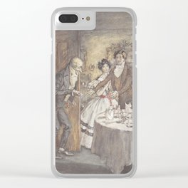 """Arthur Rackham - Dickens' Christmas Carol (1915): """"It's I, your uncle Scrooge!"""" Clear iPhone Case"""
