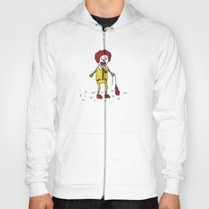 Sad Ronald McDonald In A Field Hoody