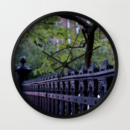 Fence Detail Wall Clock