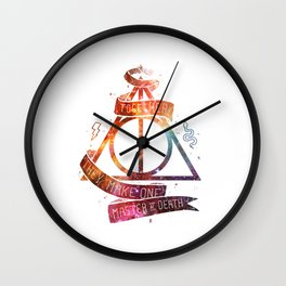 galaxy deadly hollow harry.potter Wall Clock
