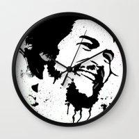 che Wall Clocks featuring Che by Cynthia Alvarez