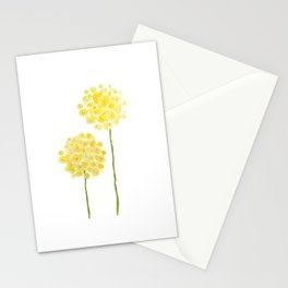 two abstract dandelions watercolor Stationery Cards